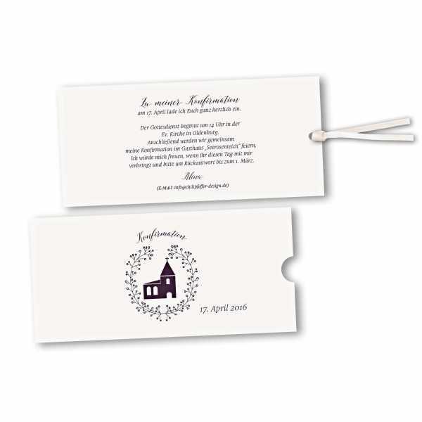 Schuberkarte - Kartendesign Alina