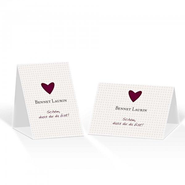 Platzkarte Aufsteller A6 – Kartendesign Herzklopfen