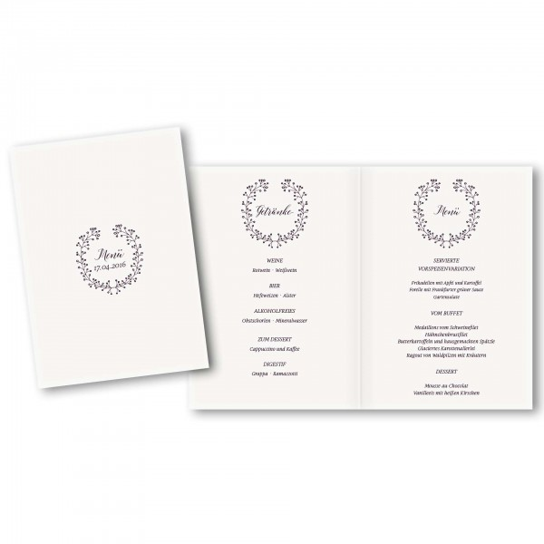 Menükarte DIN-A5 - Kartendesign Alina