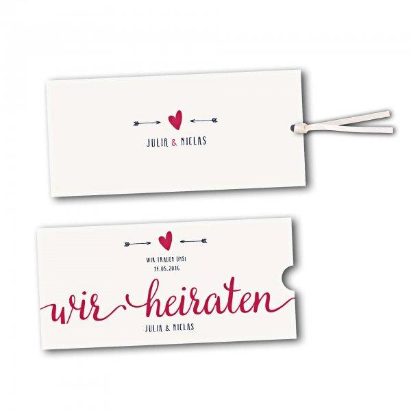 Schuberkarte - Kartendesign Amor trifft