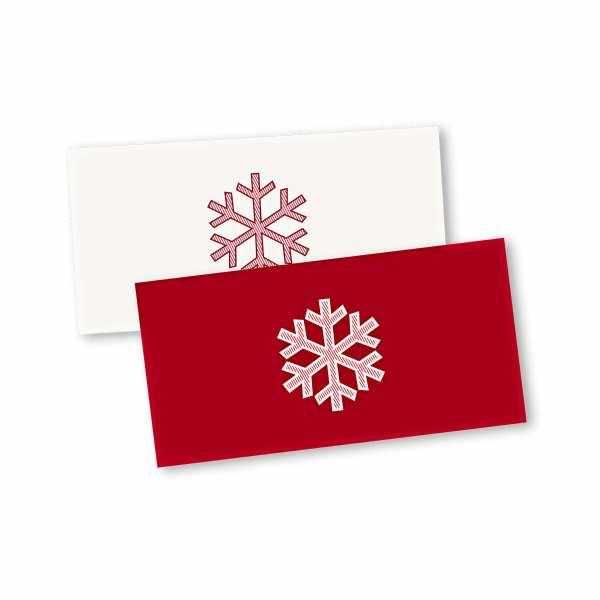 Weihnachtskarte – Klappkarte DIN-lang mit Kopffalz im Kartendesign Weihnachtskristall
