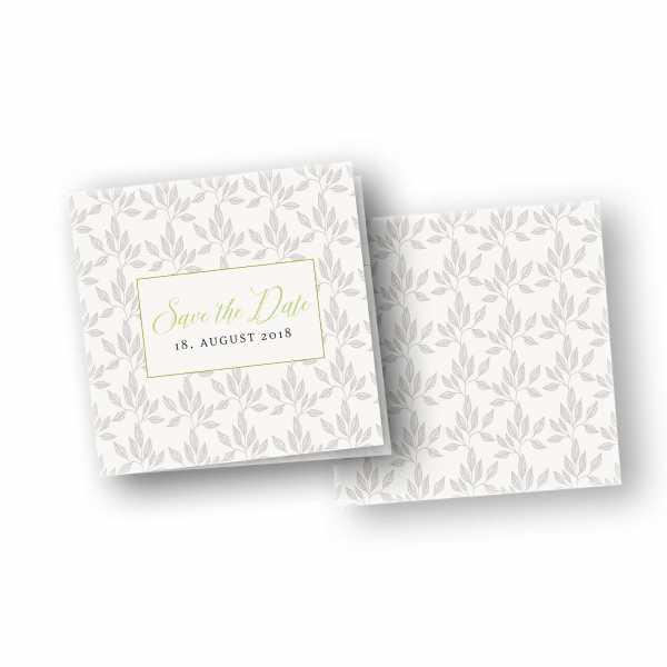 Einladungskarten – Klappkarte – quadratische Klappkarte mit Rückenfalz mit dem Design grey wedding