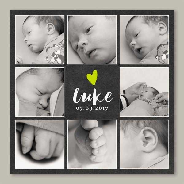 Geburtskarte – quadratische Klappkarte Kartendesign Luke