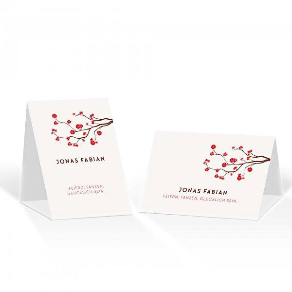 Platzkarte Aufsteller A6 – Kartendesign Baumblüte