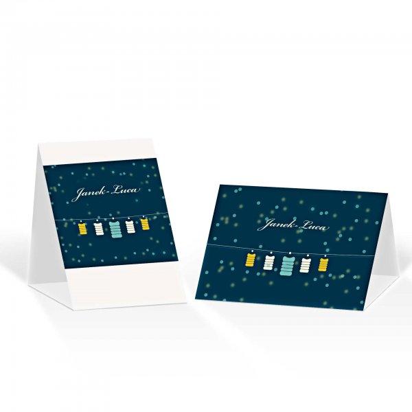 Platzkarte Aufsteller A6 – Kartendesign Lichterzauber Version 2