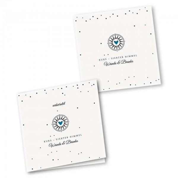 Danksagungskarte – 4-Seiter quadratisch Kartendesign Gefühlszauber
